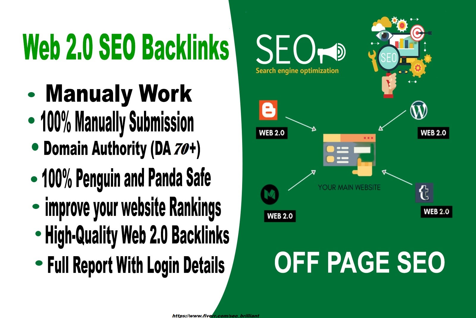 Manually Bulid 200 manual web 2 0 SEO backlinks