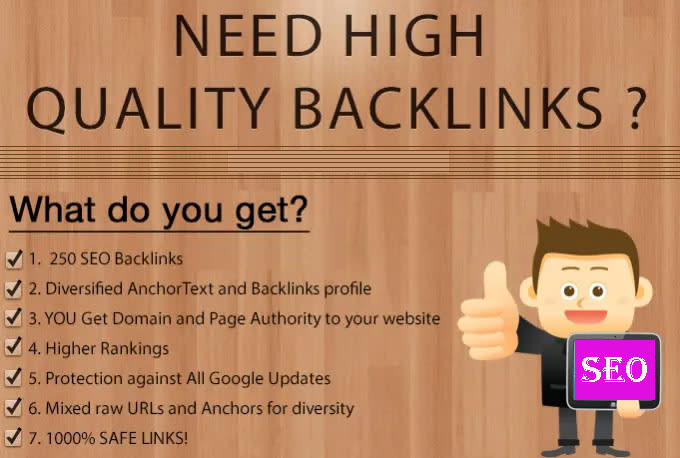 I will make 250 high quality backlinks improves SEO in 2021
