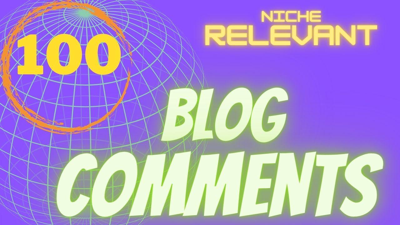 Do 100 niche relevant blog comment backlinks