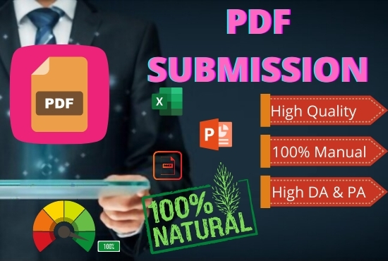 Build Manually 30 High Authority DA PA PDF Submission Manually