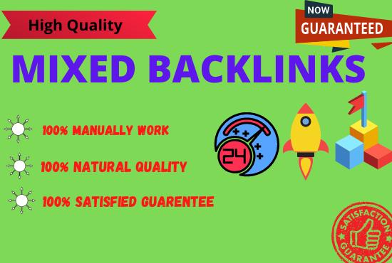 Build 30 High Authority Mixed backlinks
