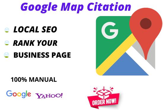Build 300 Google Map Citations For Local SEO