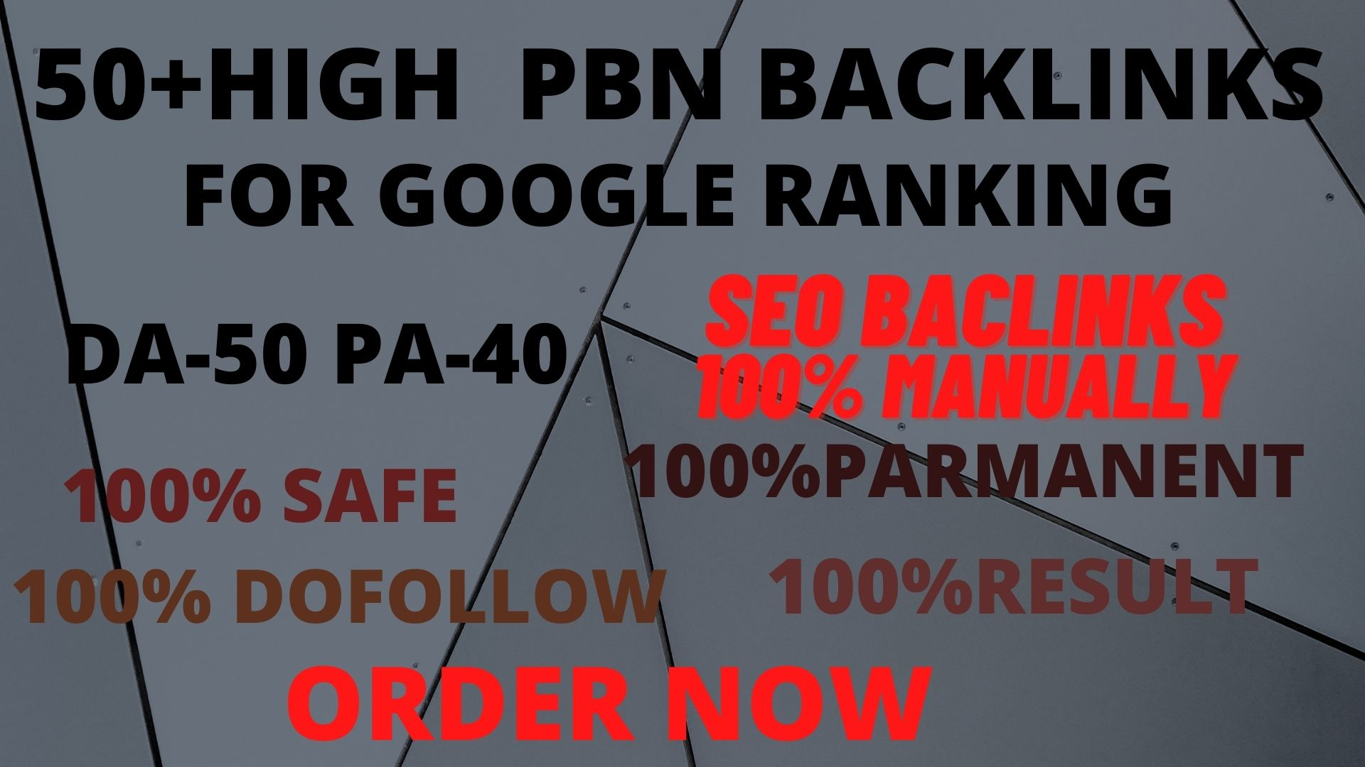 Get powerful 50+ pbn backlinks with high DA /PA on Your Google Ranking.