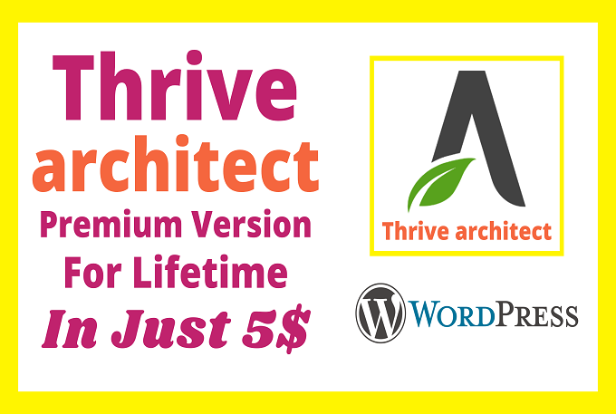 I will install thrive architect and thrive theme builder with my agency license