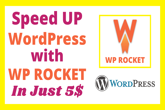 I will speed up WordPress with WP Rocket within 1 hour