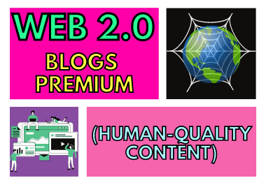Completely handmade 10 Web 2.0 blogs Premium Human-Quality Content