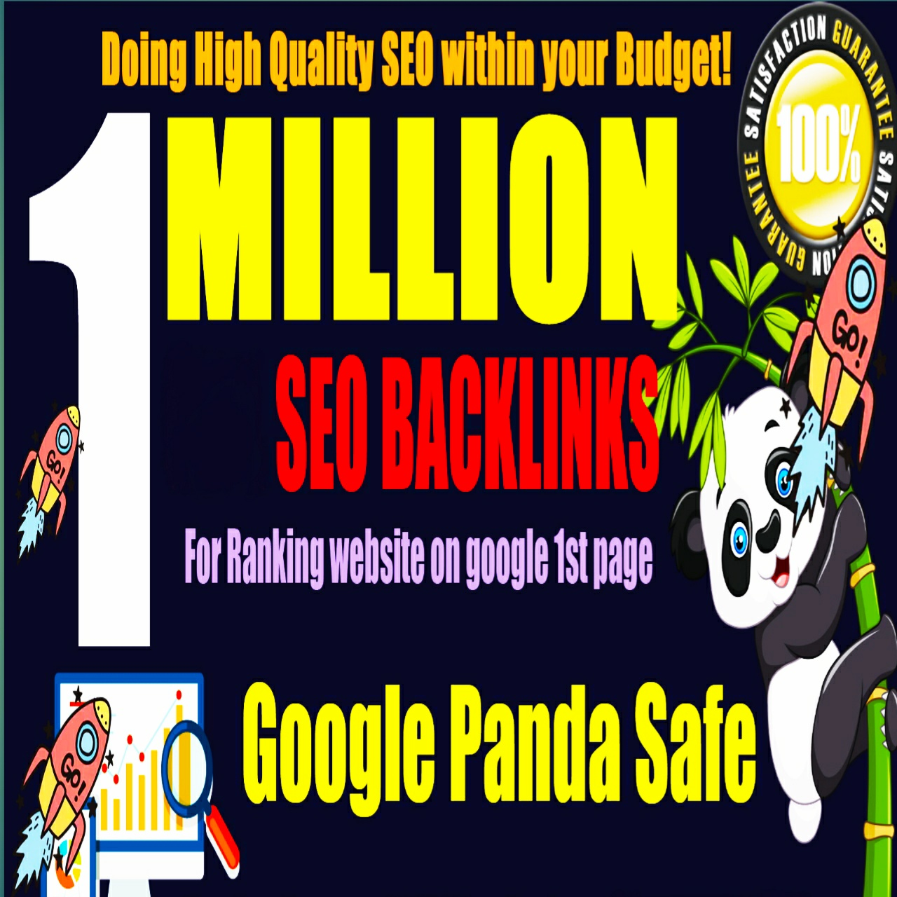 I will do HQ 1 million backlinks for your urls and keywords