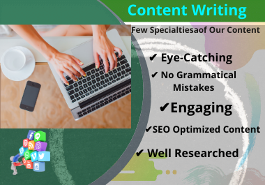 I will Do SEO Friendly Content Writing 1000 Words without Copywrite