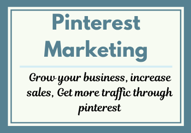 I will setup seo optimized pinterest board with update pin and profile