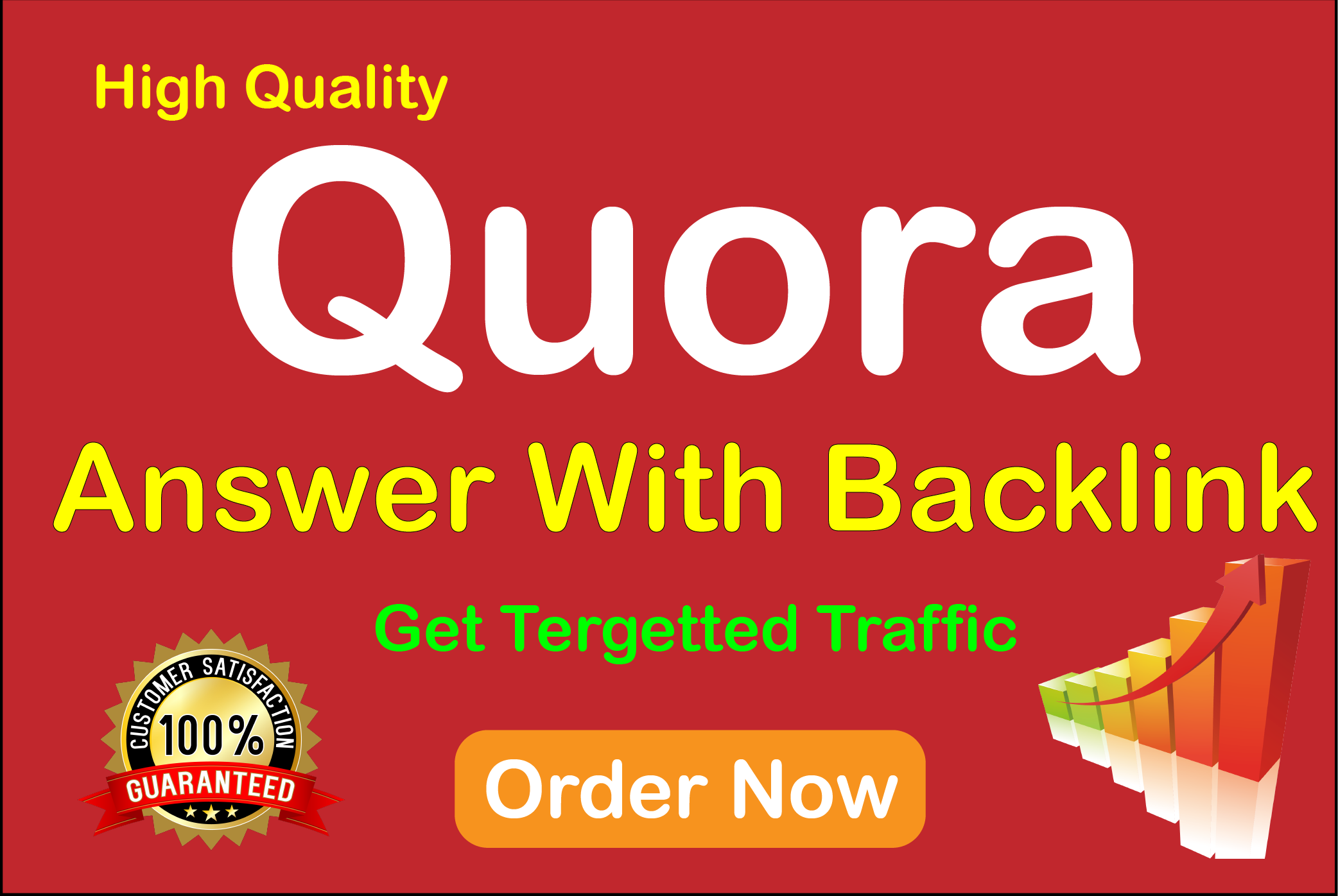 I Will provide 10 Quora question answer with backlinks to promote your website
