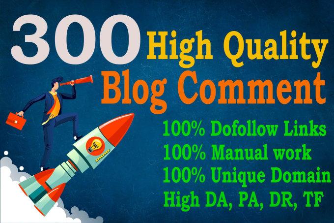 I will do 300 Manually SEO Dofollow Blog Comments Backlinks for Google Ranking