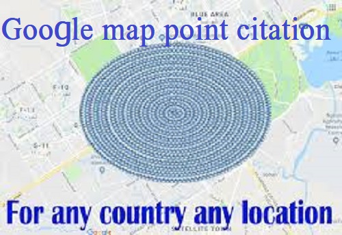 I will create 1000 google point map citations with backlink for local SEO