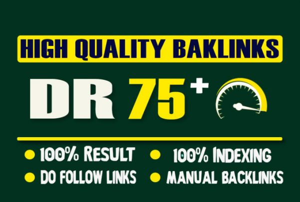 manually 75+ Dr High quallity seo Dofollow Backlink website rankig