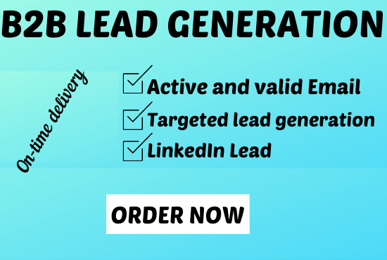 I will do B2B lead Generation with valid email