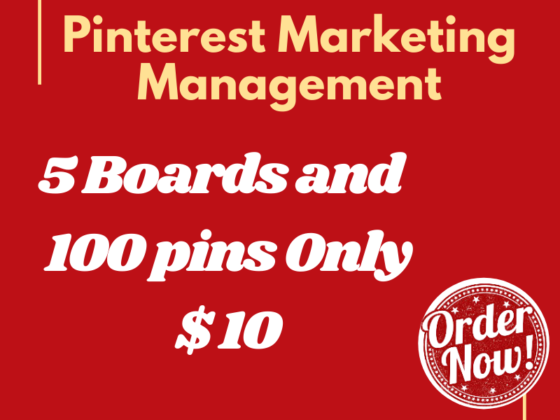 I will do your Pinterest marketing management
