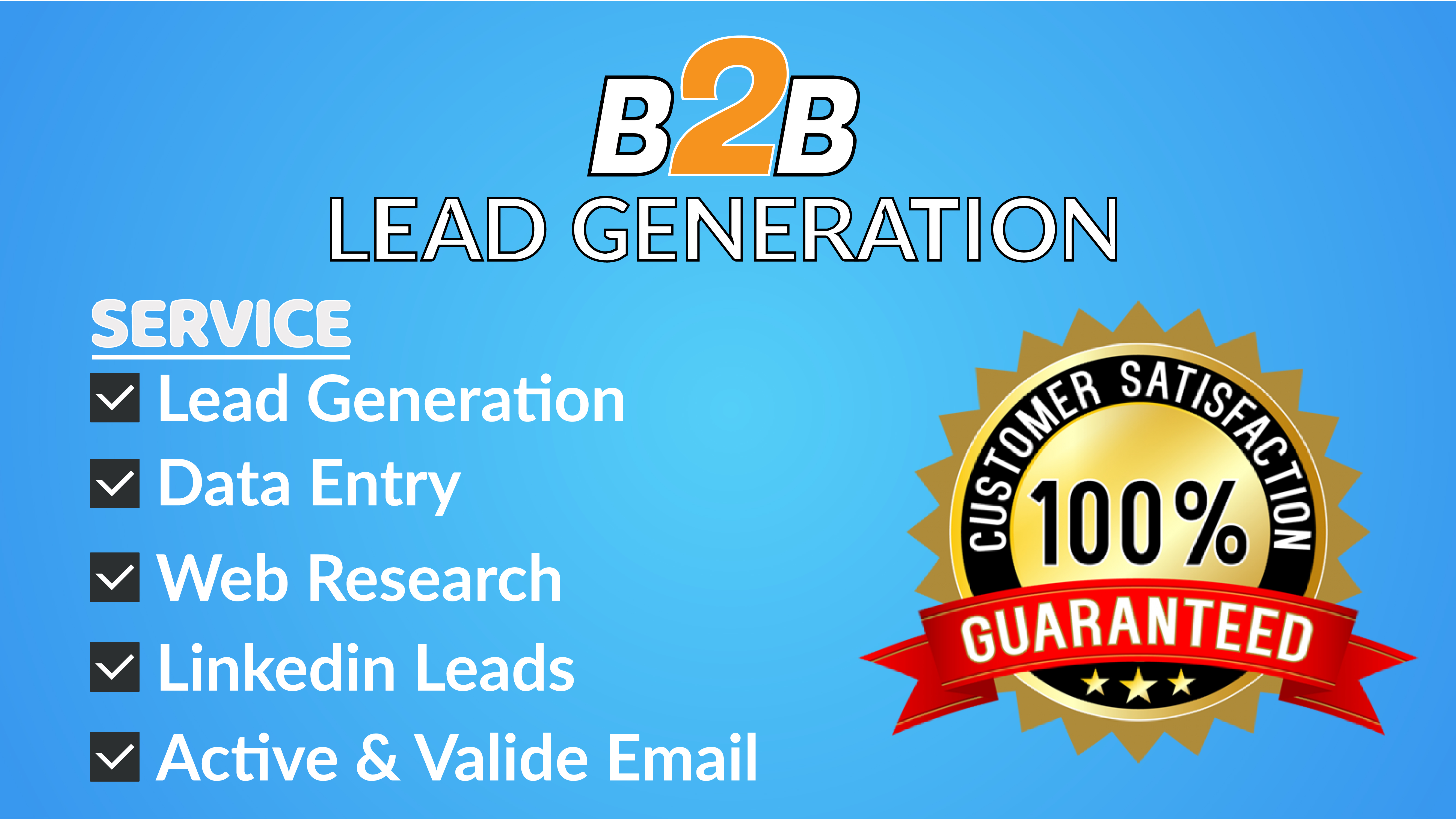 I will do b2b lead generation and data entry