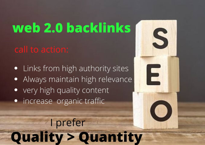 I will do high authority web 2 0 backlinks manually with high relevance quality content