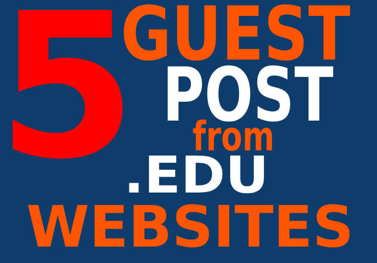 5 Premium dofollow EDU Guest Post backlinks on TOP UNIVERSITY sites