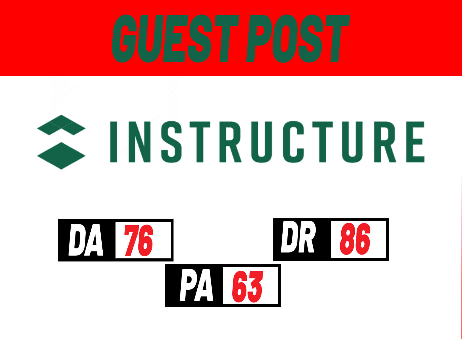 Do-Follow Guest Post Backlink on INSTRUCTURE- DA76,  DR86, PA58
