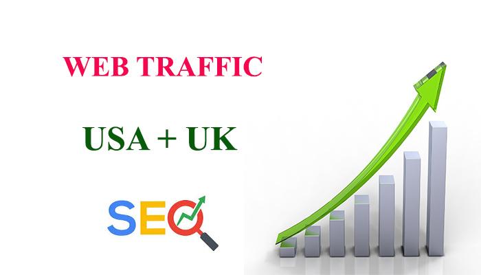 I will send real traffic USA,  UK