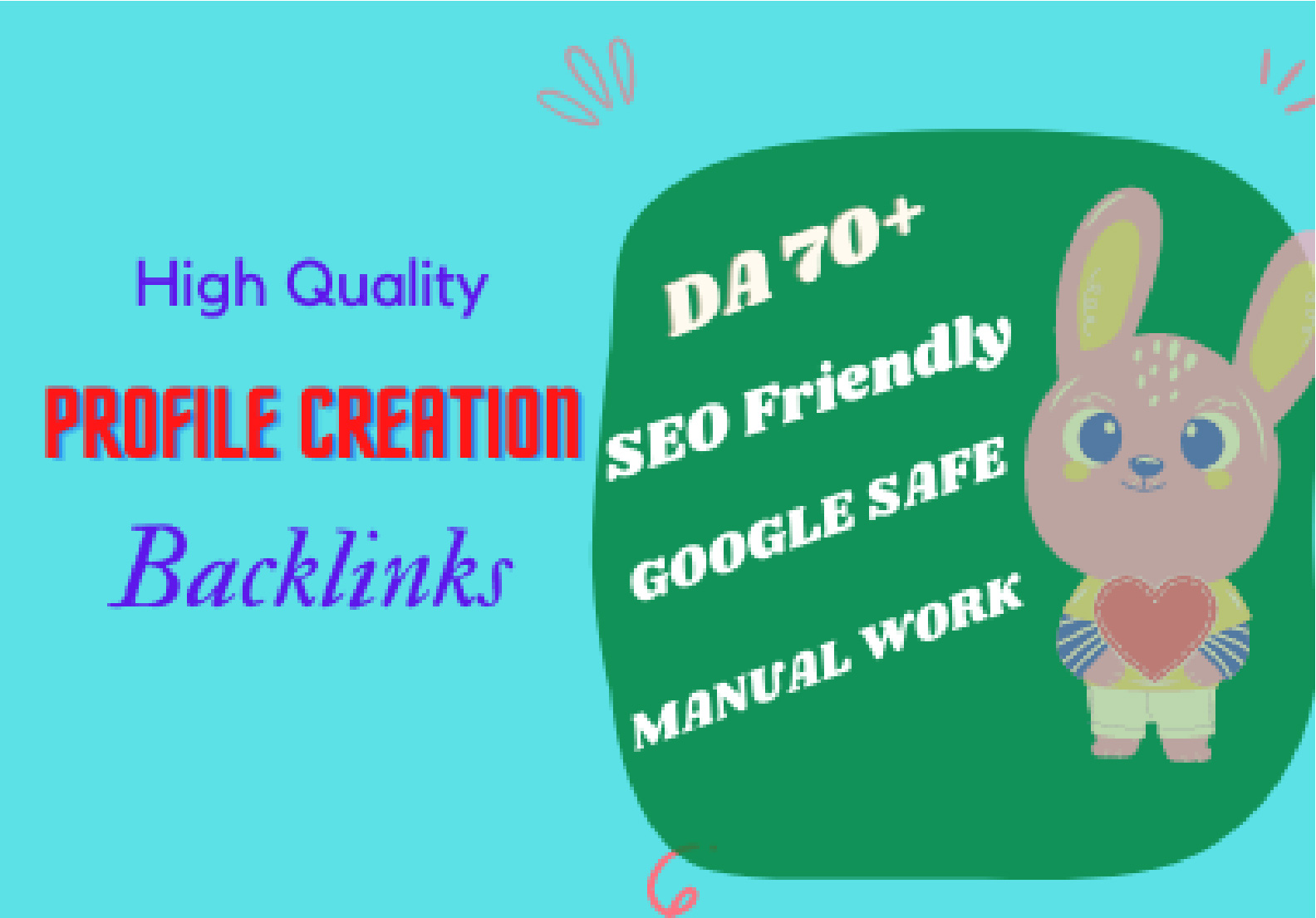 I will provide manually 70 Social Profile Backlinks Profile Creation DA 75+ SEO backlinks
