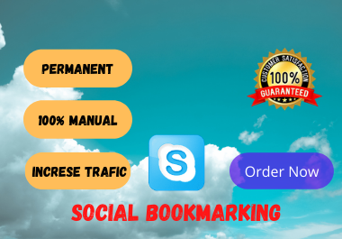 I will create social bookmarking SEO backlink in high da sites manually