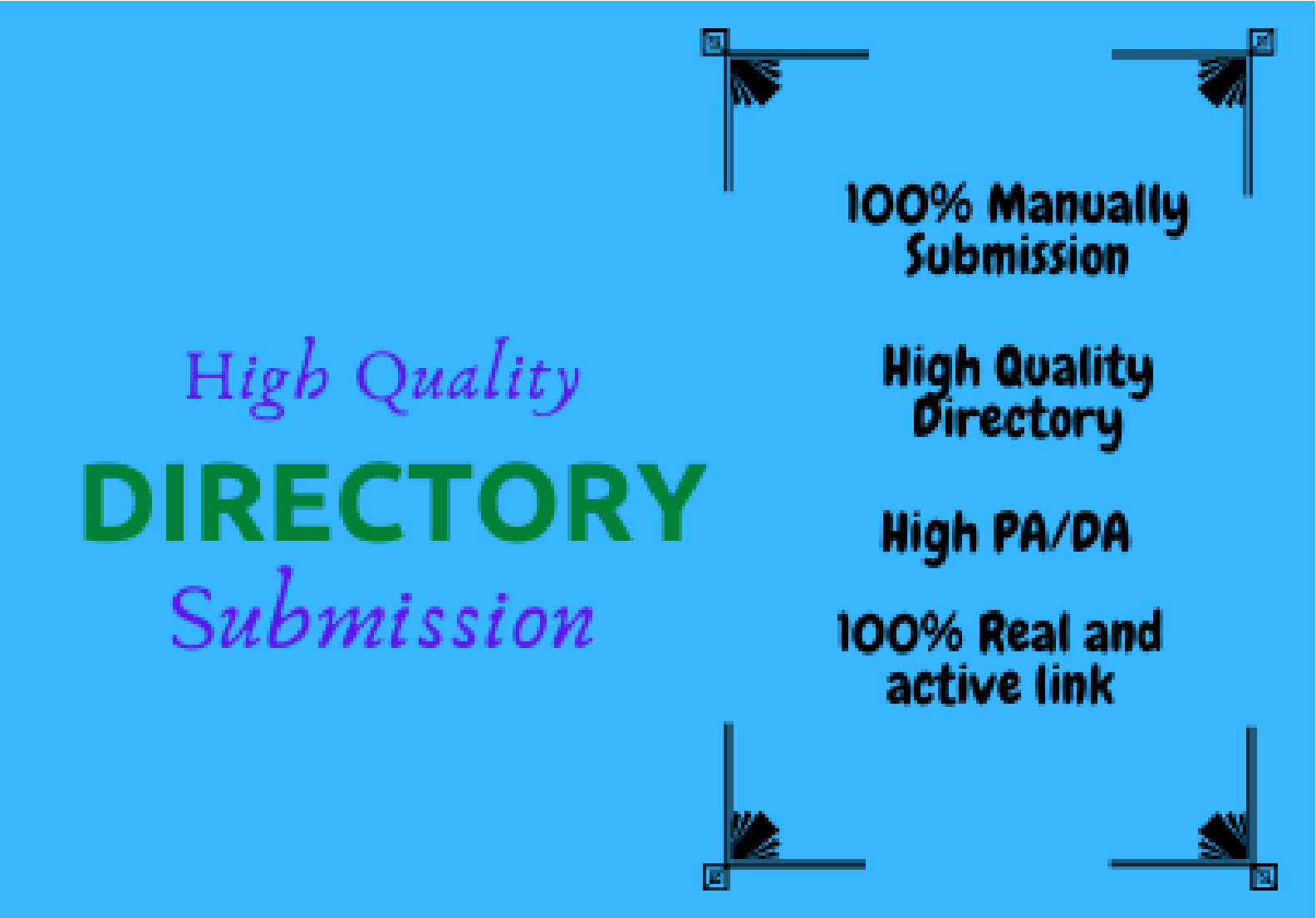 I Will Provide Manually 220 High Quality Directory Submission SEO Backlinks