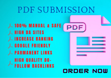 I will do 100 high quality PDF submission SEO Backlinks on Document Sharing Sites