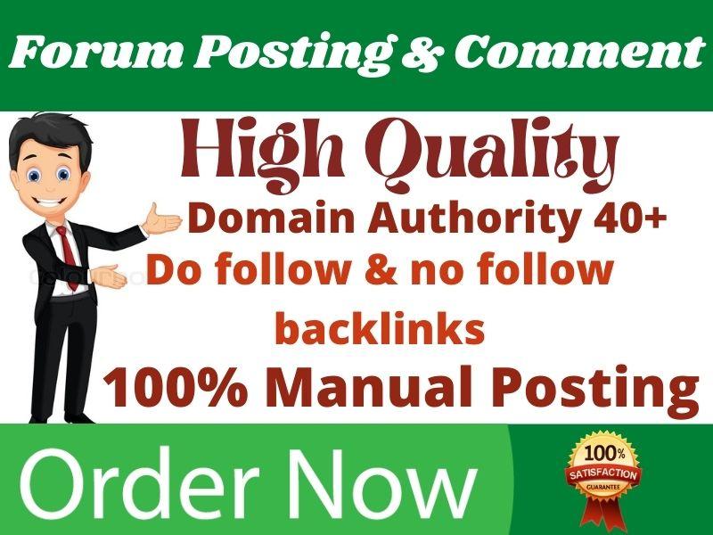I will do 50+ high quality forum posting for SEO backlinks