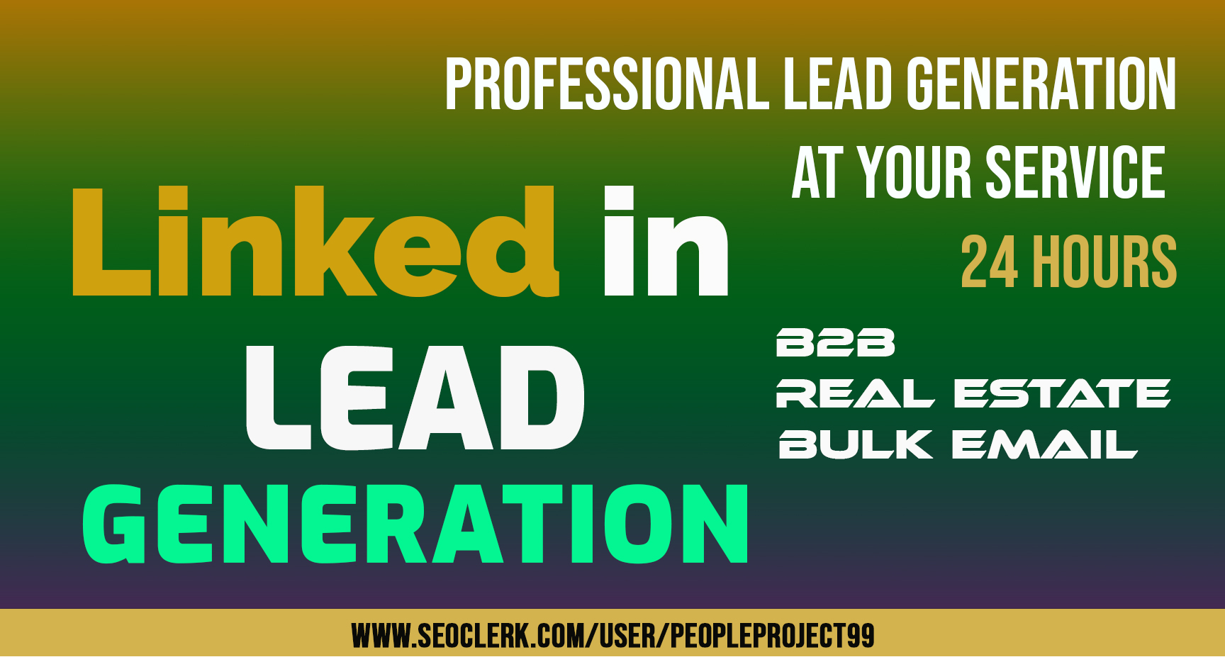 I will collect b2b,  real estate,  lead generation on LinkedIn within 24 Hours