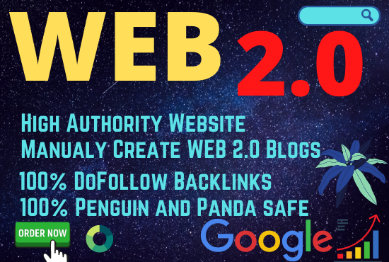 Google friendly powerful 20 Web 2.0 Blog Backlinks,  Offpage authority backlinks for seo ranking