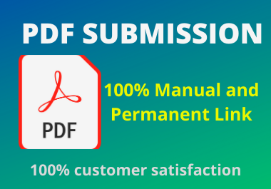 Manual 30 PDF and Docs Submission high authorty permanent backliks