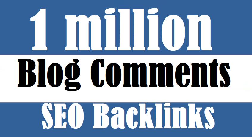 1 million blog comment backlinks for SEO