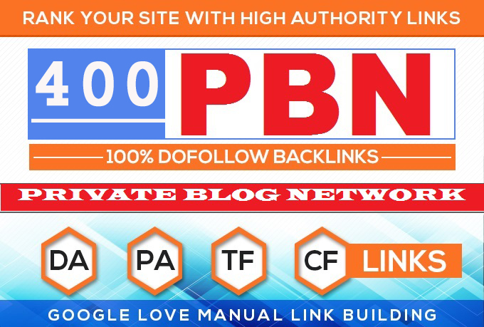 Build 400 HomePage PBN All. COM Domains Backlinks All Dofollow High Quality Backlinks