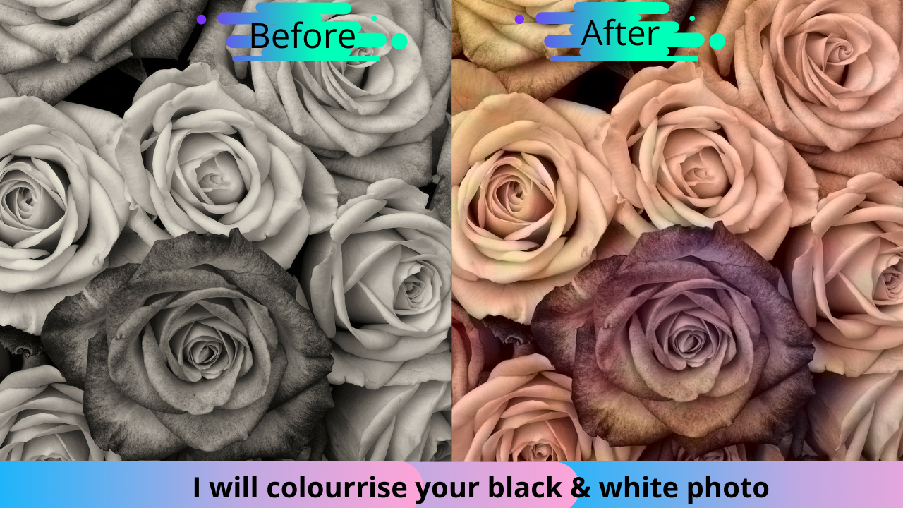 I will colour rise to your black and white image