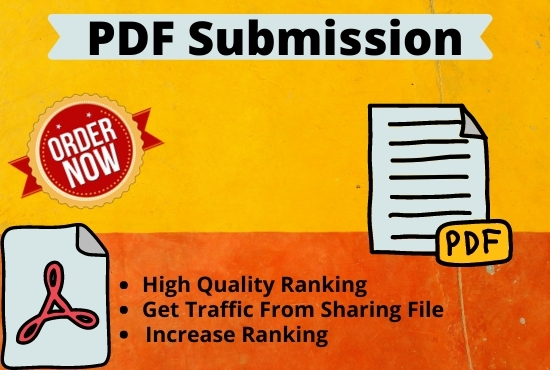 Live 20 PDF Submission or Docs Submission High Authority Low spam permanent backlink