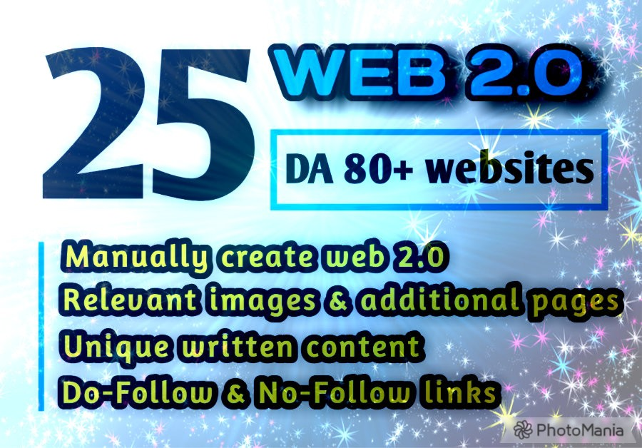 Create 25+ Best High DA Dofollow Web2.0 Blog Backlinks for Your Website