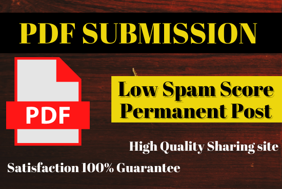30 PDF High Quality sharing with low spam score permanently post do linkbuilding
