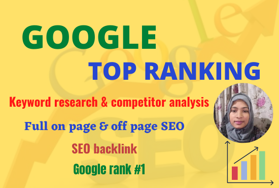 I will do google top ranking your website with full SEO service