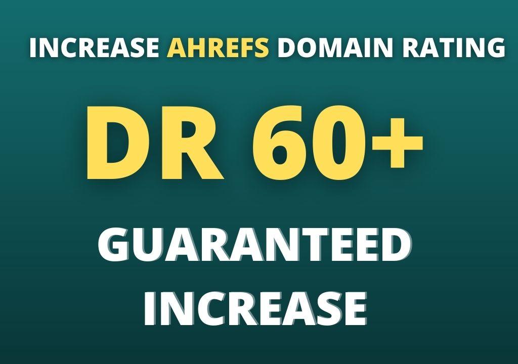 increase domain rating dr 60 plus