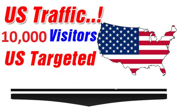 I will send 10,000 unique visitors,  traffic from USA to your website