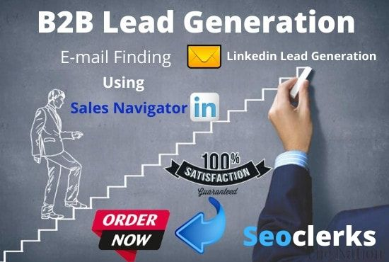 I will do targeted b2b, linkedin lead generation,  email list