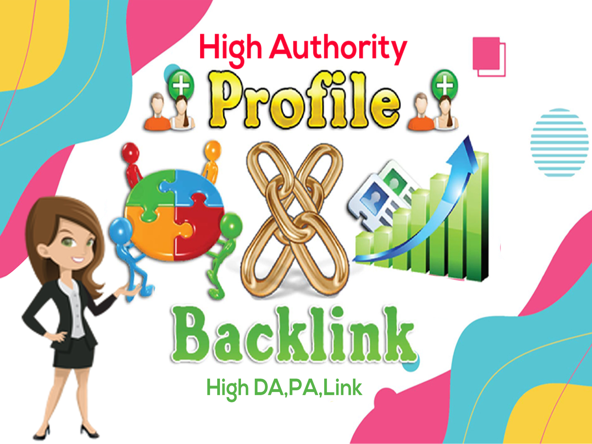 I will do create 80 SEO profile backlinks on high authority websites