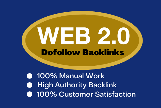 Do manually 50 high DA PA WEB 2.0 backlinks for your website.