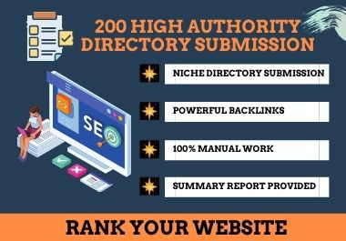 I will manually do 200 niche directory submissions for SEO backlinks