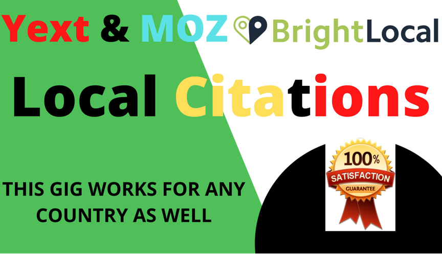 200 local Citations+100 High Quality Backlinks+60 WEB2.0