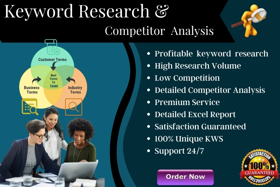 I will do in depth SEO keyword research and competition analysis to rank your site fast