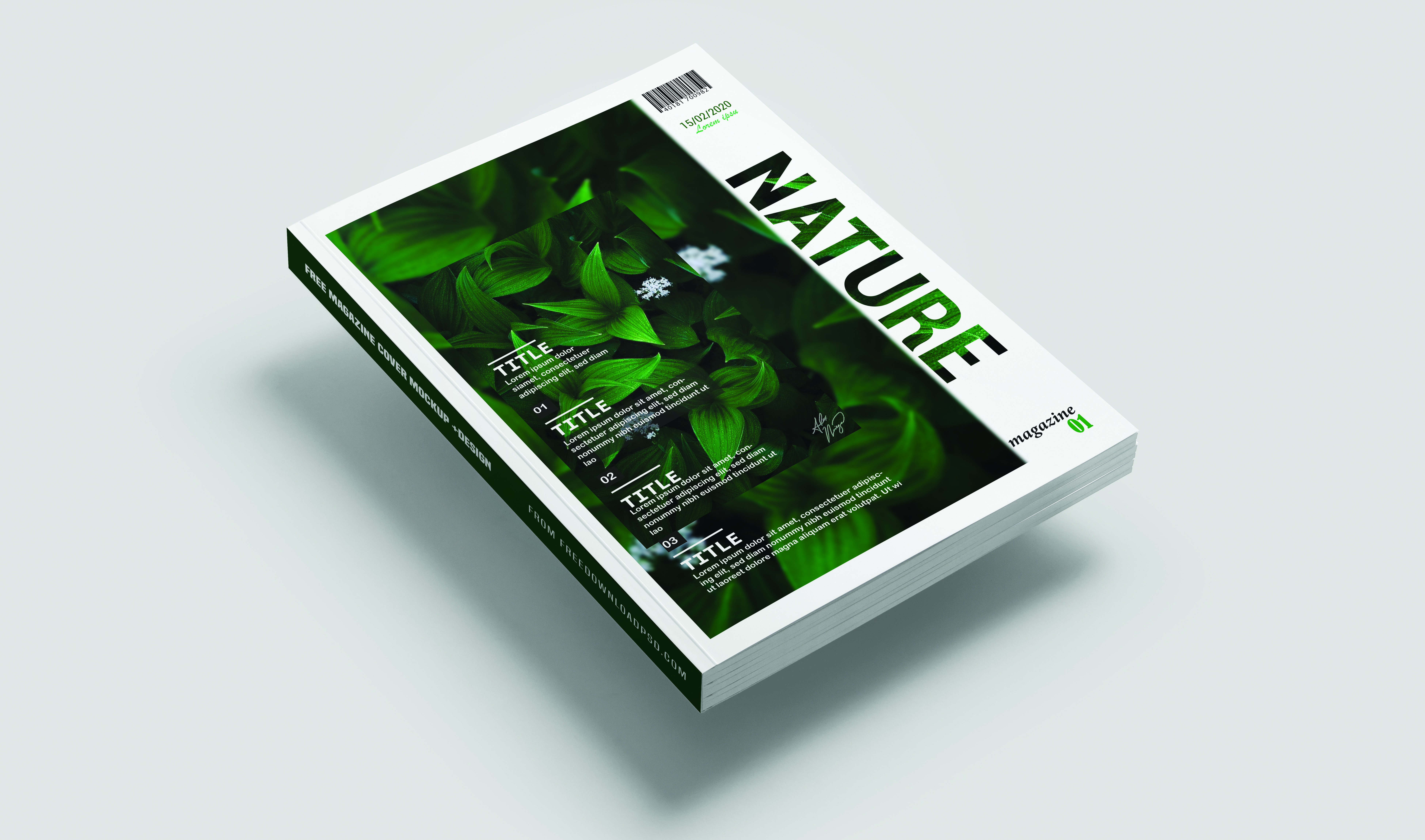I will design a creative magazine cover for you.