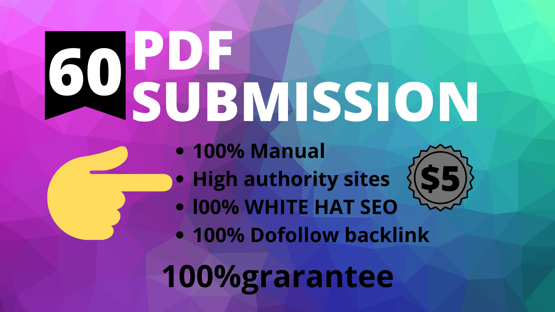 I will do pdf submission to best ranking.