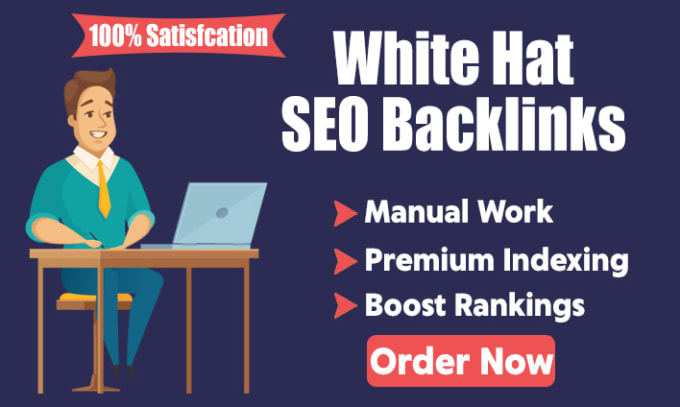 I will create 100 manual white hat SEO backlinks for ranking boost